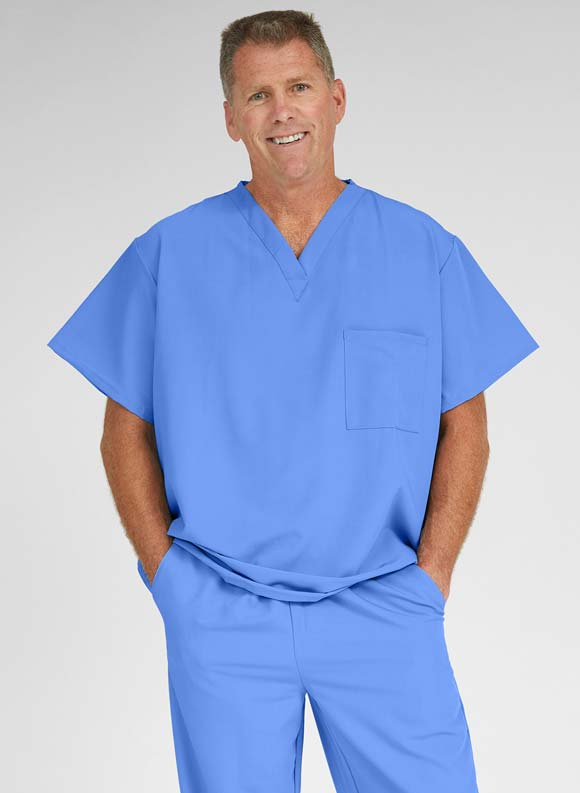 AVE 1-Pocket V Neck Scrub Top-Medline