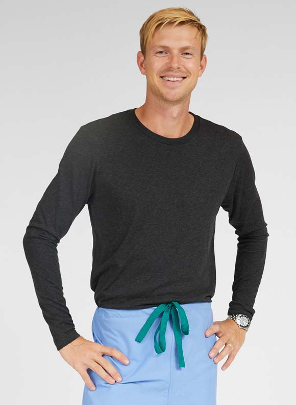 Long Sleeve Underscrub Top-Medline