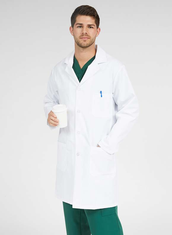 Premium Staff Length Lab Coat-Medline