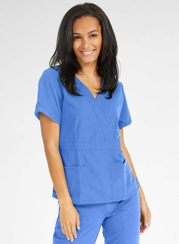 Adjustable Mock Wrap Top-Medline