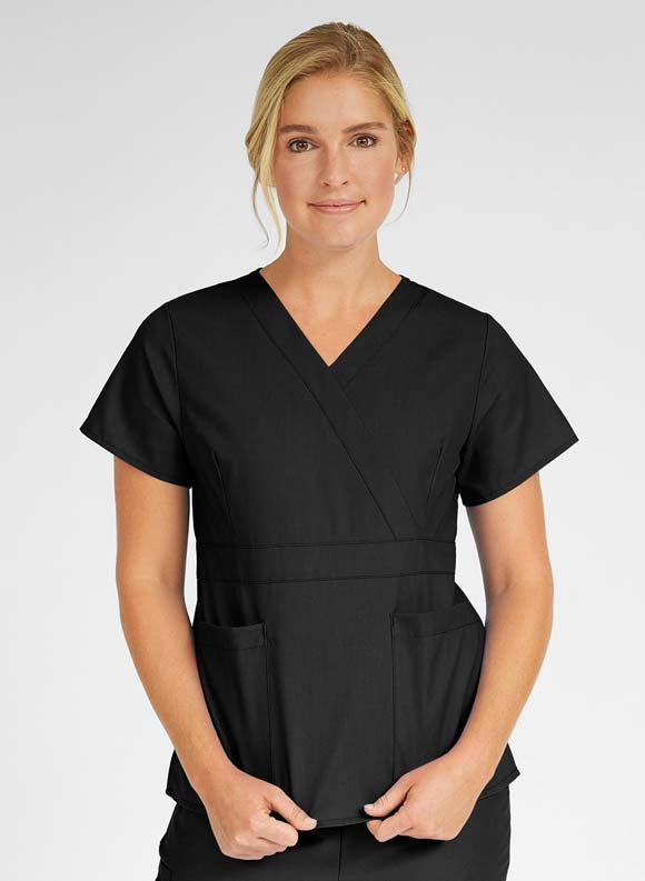 Mock Wrap Top-Medline