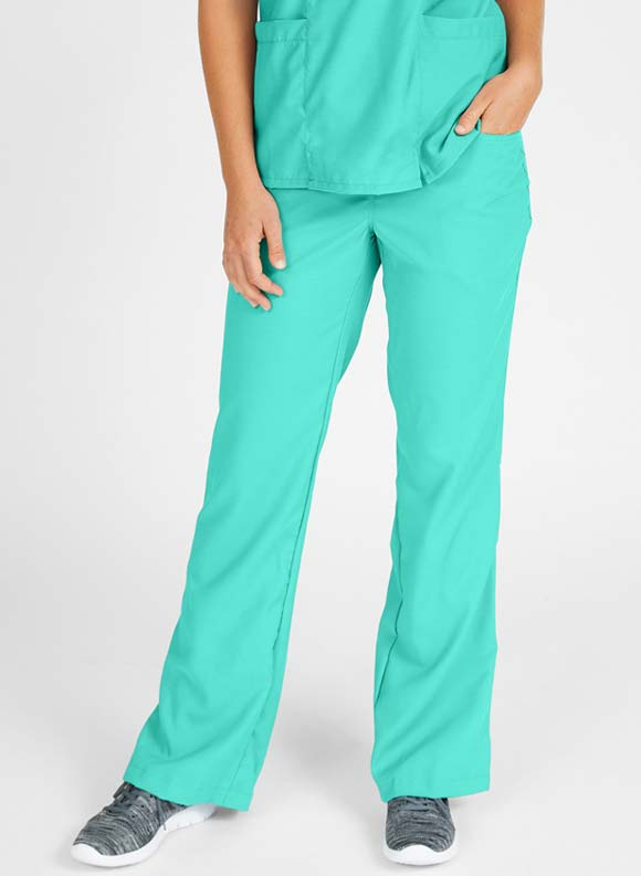 Drawstring Elastic Waist Boot Cut Pant-Medline