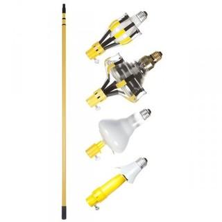 Light Bulb Changer w/11' 3-Section Steel Pole & 3 Changer Heads plus 2-Piece Broken Bulb Changer