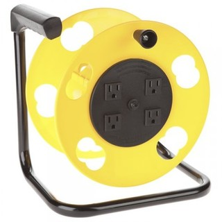 Cord Storage Reel w/4 Outlets & Resettable 15amp Circuit Breaker