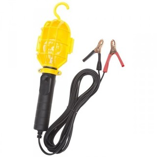 12 Volt Incandescent Work Light w/Non-metallic Guard & Battery Clips