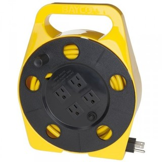25ft Cord Reel w/Integrated Cord & 4 Outlets