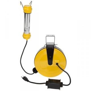 13w Fluorescent Work Light on 50ft Metal Reel - OSHA NRTL Compliant-