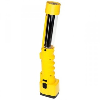 13w UV Fluorescent Rechargeable Work Light w/Single Dual-Capacity Battery & Yellow Safety Glasses-