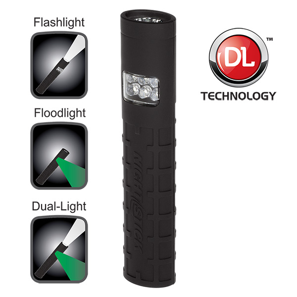 Dual-Switch Dual-Light™ Flashlight - Non-Rechargeable-Nightstick