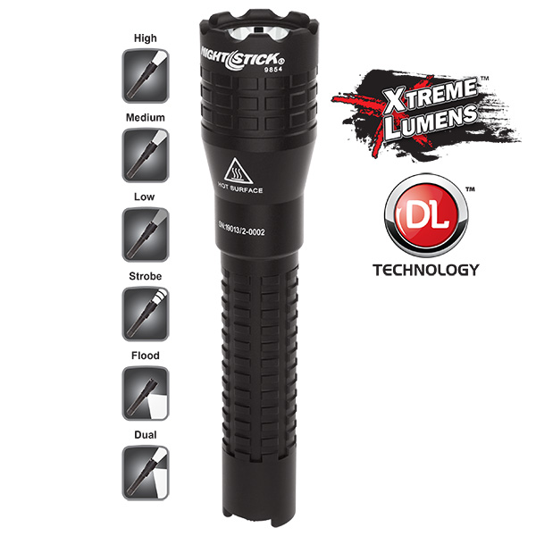 Tactical Dual-Light™ Flashlight – USB Rechargeable-Nightstick