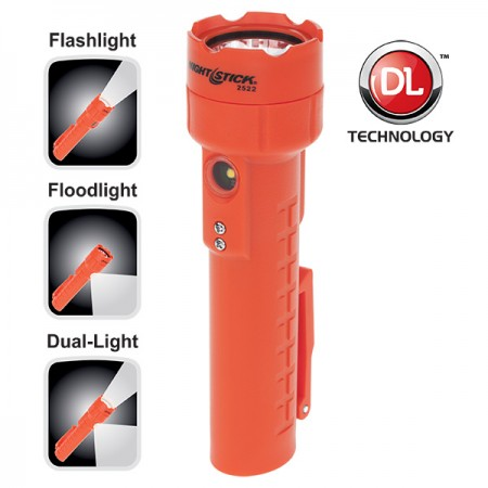 Dual-Light™ Flashlight w/Dual Magnets - Rechargeable-Nightstick