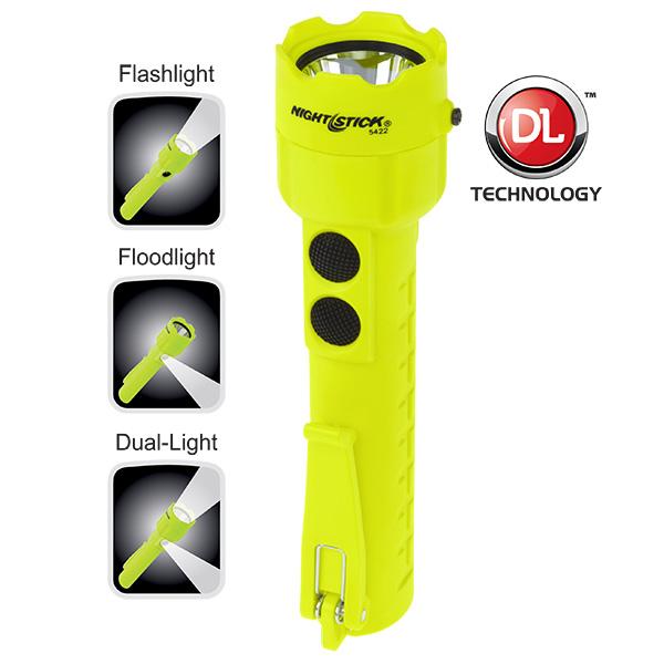 Intrinsically Safe Permissible Dual-Light™ Flashlight-