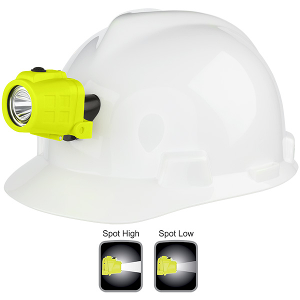 Intrinsically Safe Dual-Function Headlamp with Hard Hat Clip-