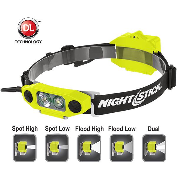 DICATA™ X-Series Intrinsically Safe Low-Profile Dual-Light™ Headlamp-