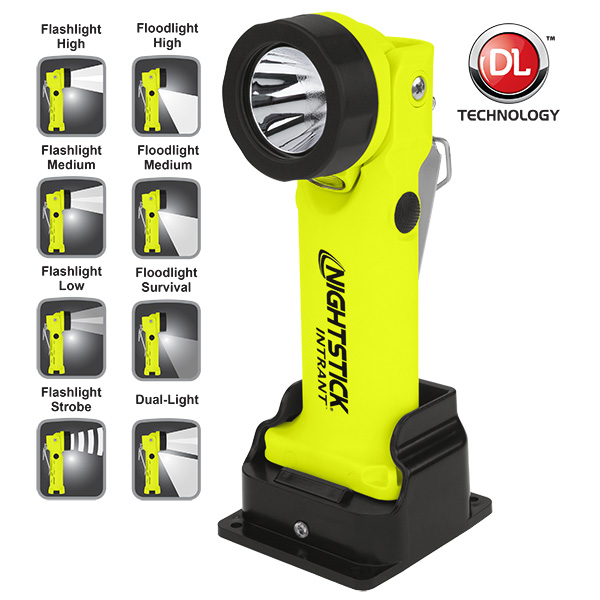 INTRANT™ Intrinsically Safe Dual-Light™ Angle Light - Rechargeable-