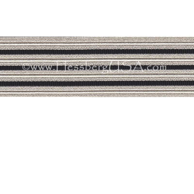 Jacquard Braid 18 Ligne Bright Silver/Black-