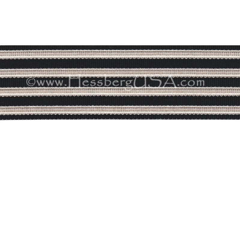 Jacquard Braid 18 Ligne Black/Bright Silver-