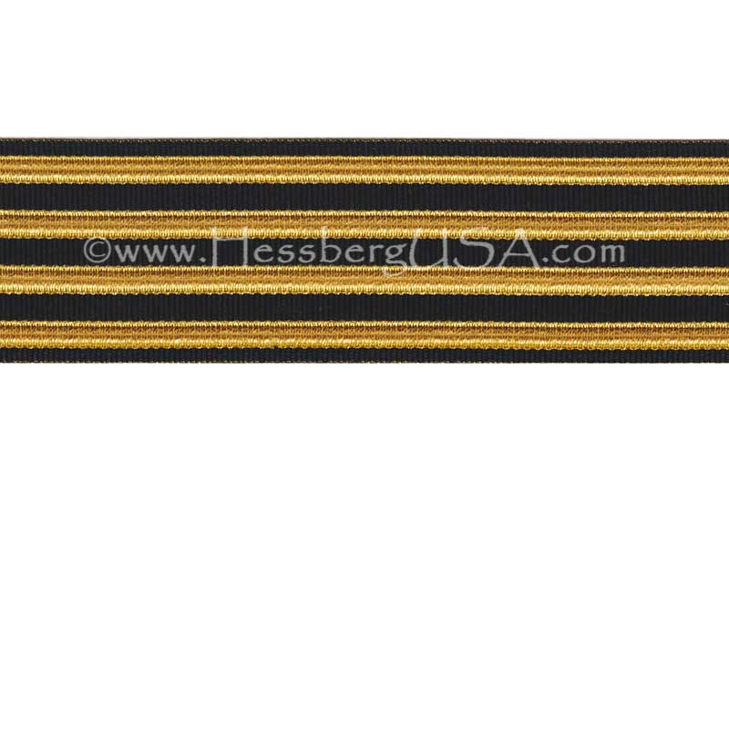 Jacquard Braid 18 Ligne Black/Regular Gold-Hessberg USA