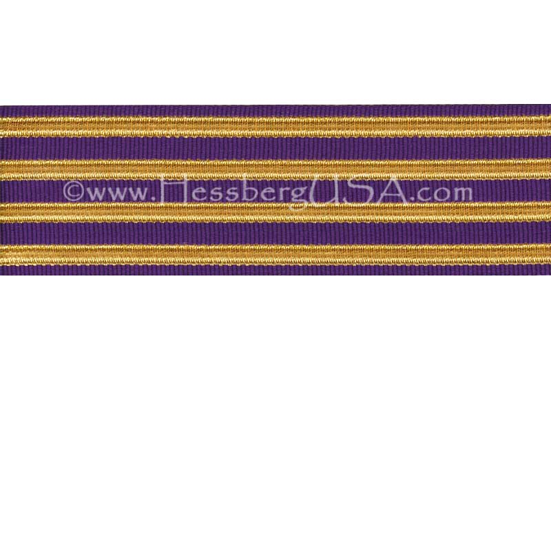 Jacquard Braid 18 Ligne Purple/Regular Gold-