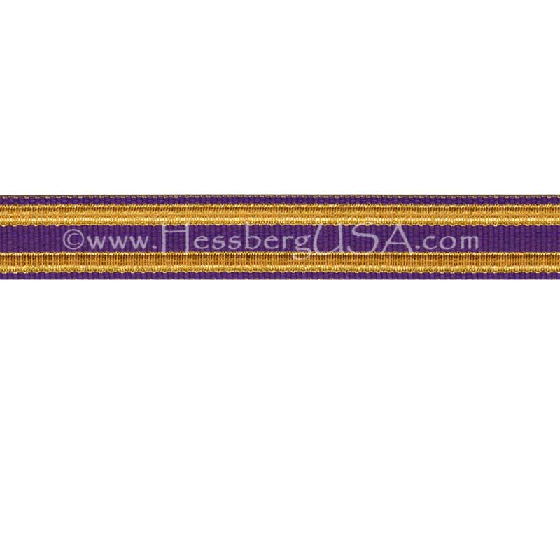 Jacquard Braid 9 Ligne Purple/Regular Gold-Hessberg USA