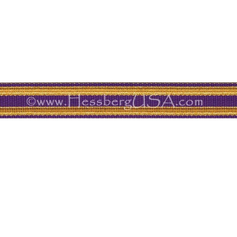 Jacquard Braid 9 Ligne Purple/Regular Gold-