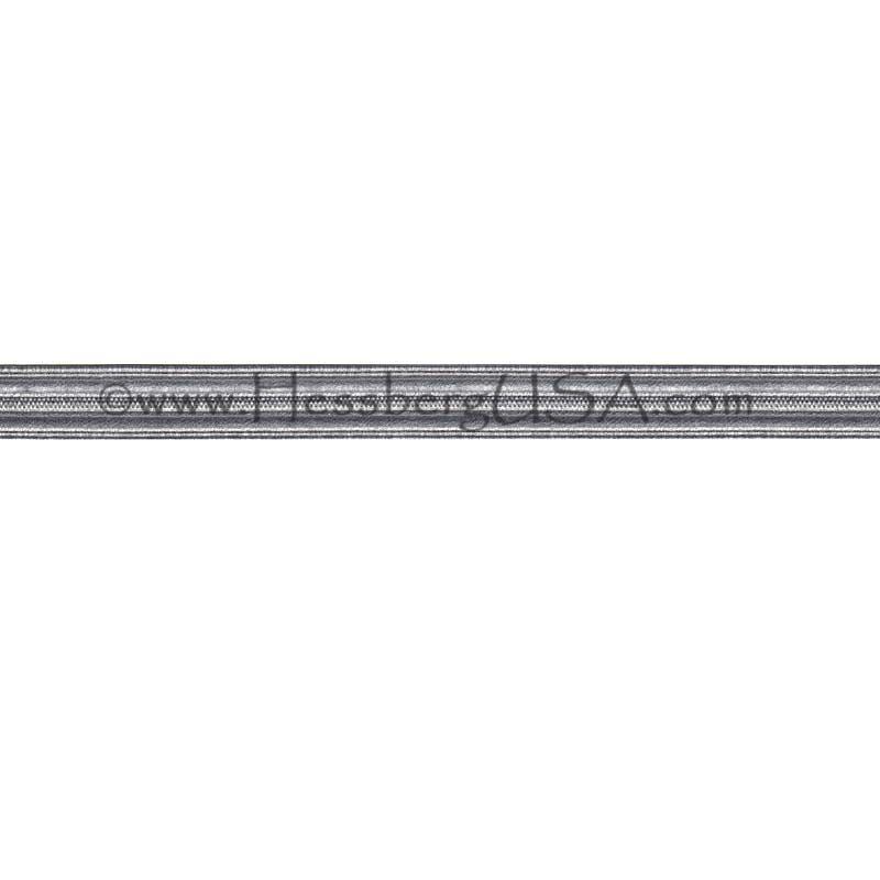 "Closeout 1/2"" Metallic Braid Hammered Silver-"