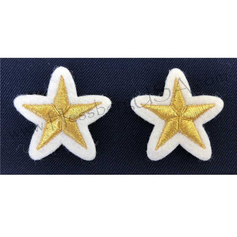 Closeout Vintage Embroidered Stars-Hessberg USA