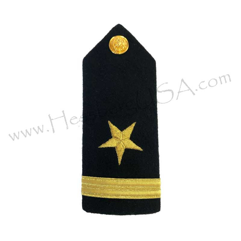 Formal Dress Hard Shoulder Boards - 1 Stripe-Hessberg USA