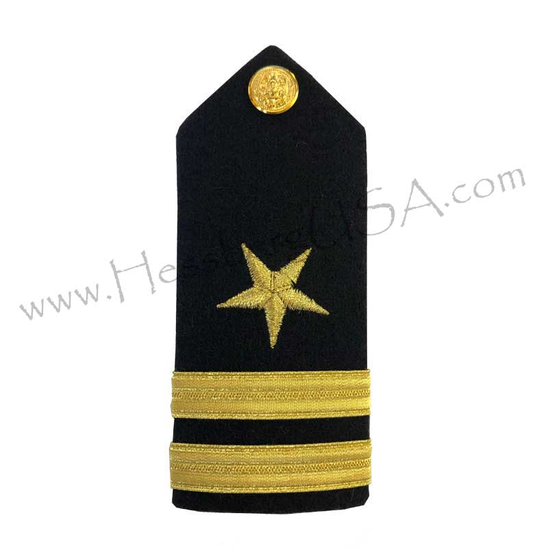 Formal Dress Hard Shoulder Boards - 2 Stripes-Hessberg USA