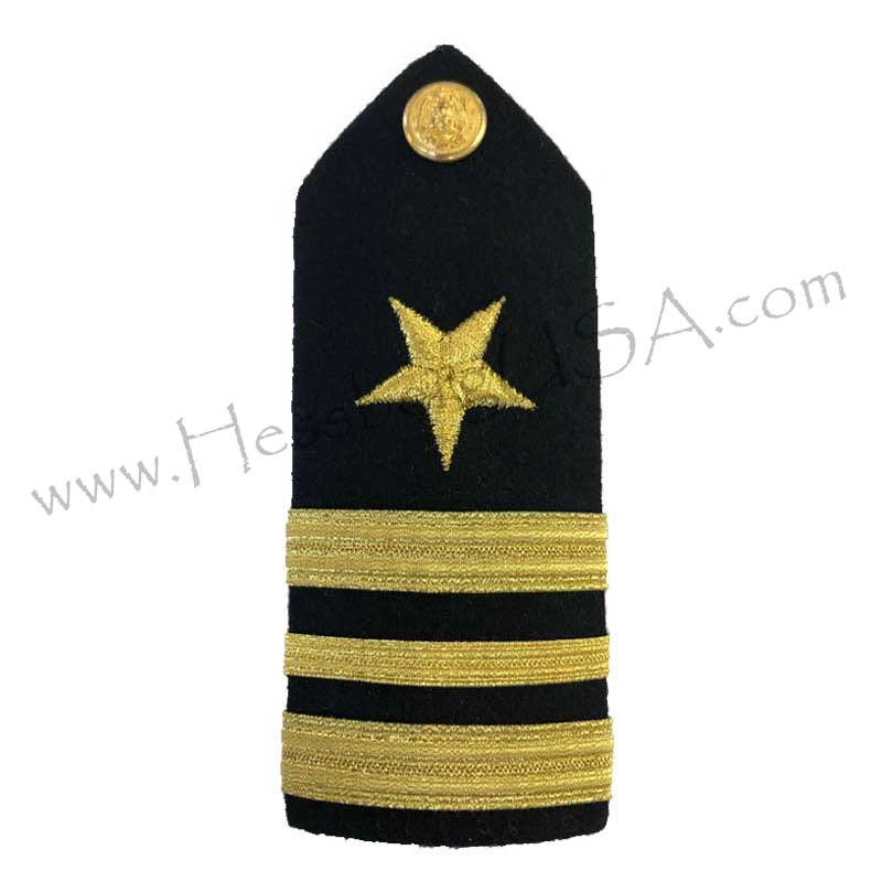 Formal Dress Hard Shoulder Boards - 3 Stripes-Hessberg USA