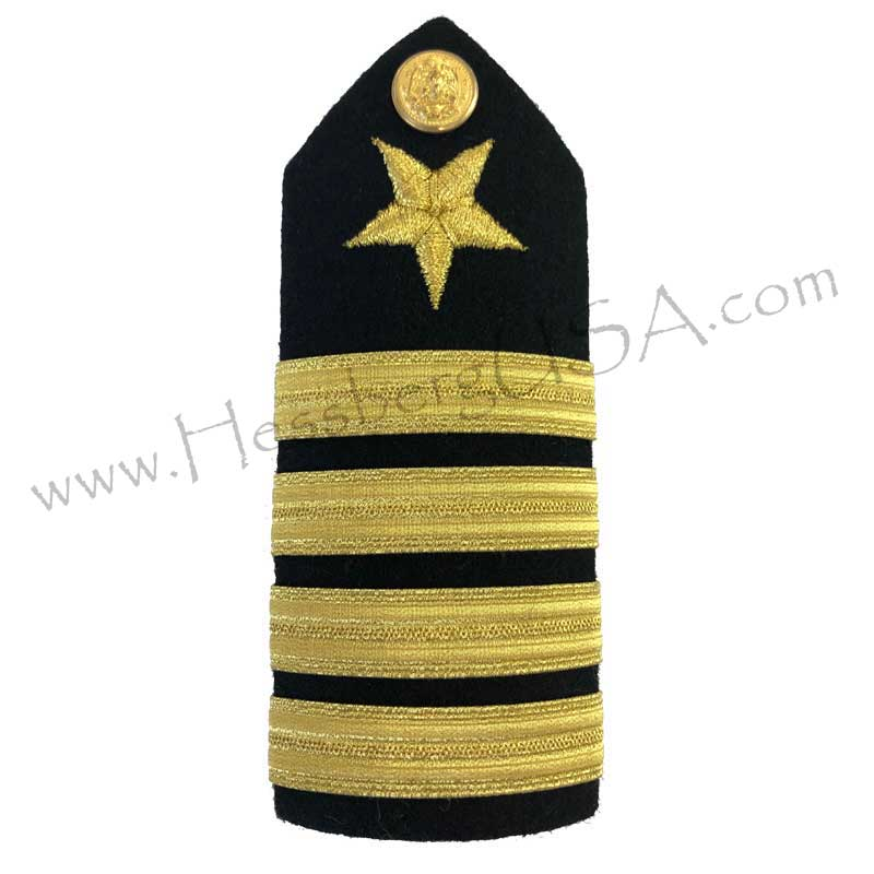 Formal Dress Hard Shoulder Boards - 4 Stripes-Hessberg USA