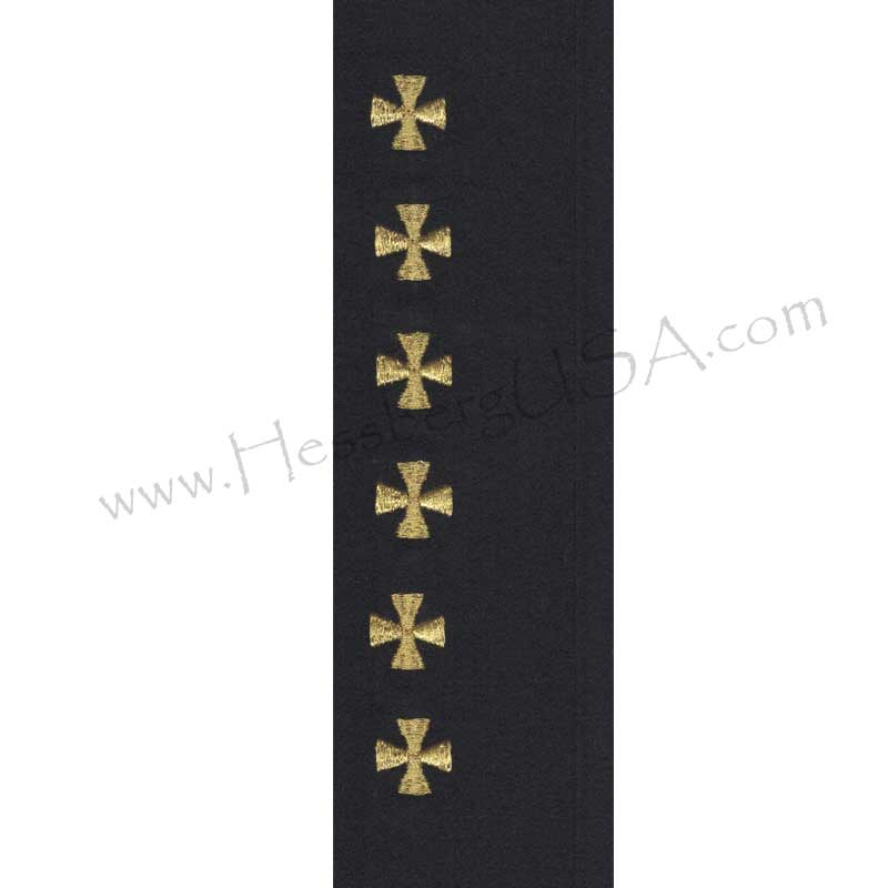 Closeout Embroidered Maltese Cross, Gold-