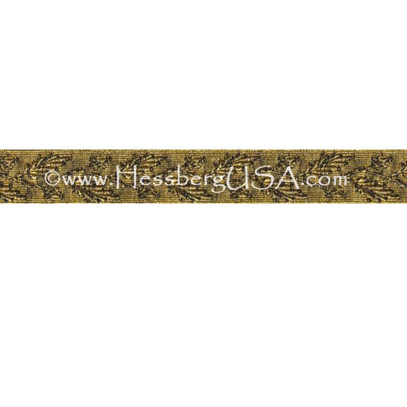 "Closeout 3/4"" Metallic Oak Leaf Braid (Regular Gold)-"