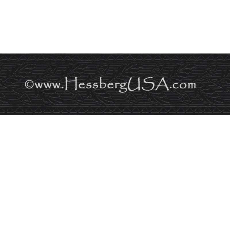 "Closeout 1 1/2"" Non-Metallic Oak Leaf Braid (Black)-Hessberg USA"
