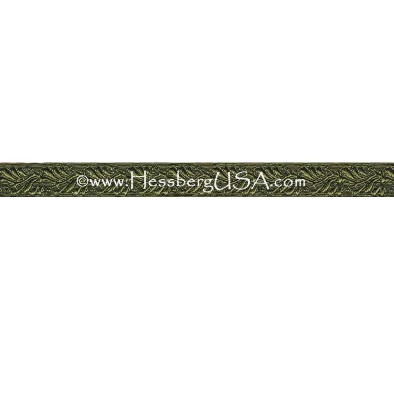 "Closeout 1/2"" Non-Metallic Oak Leaf Braid (Olive Green)-"