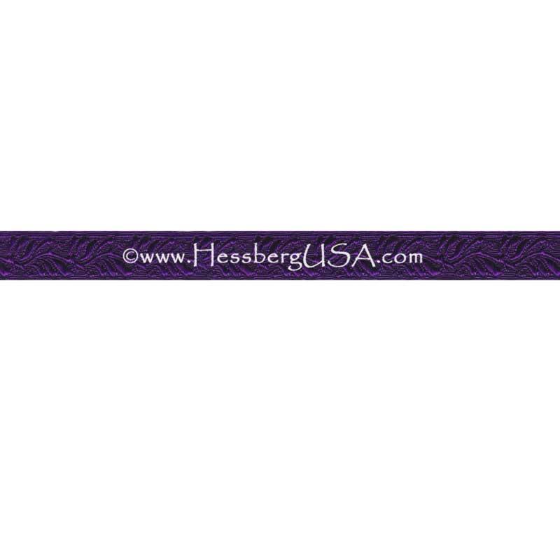 "Closeout 1/2"" Non-Metallic Oak Leaf Braid (Purple)-"