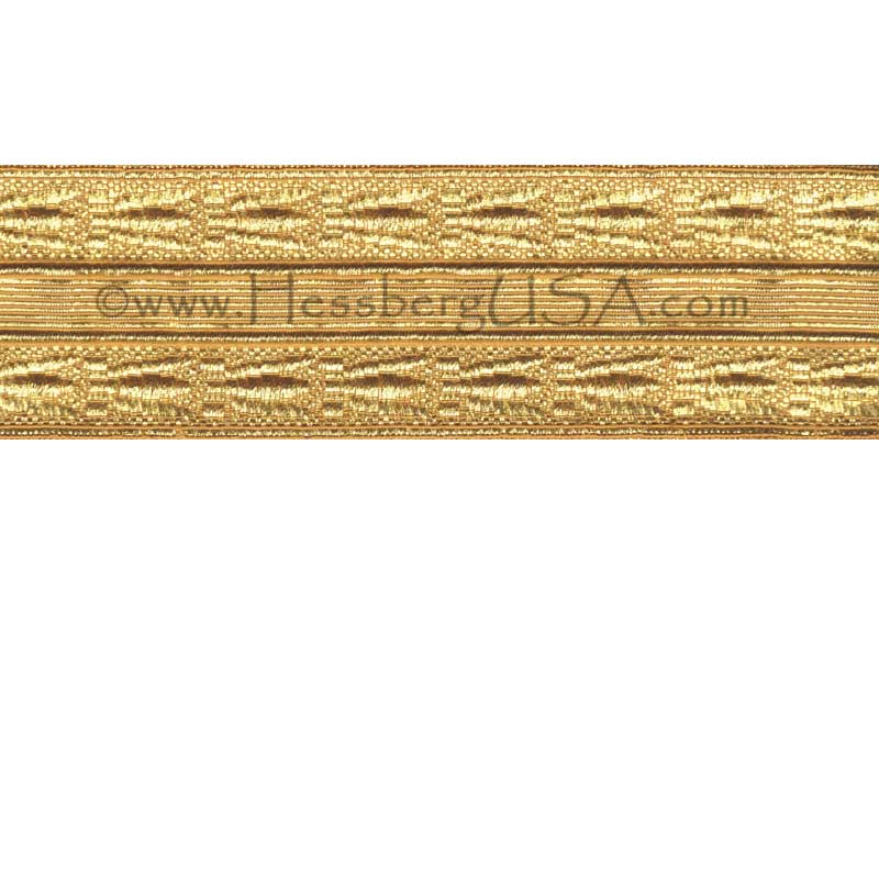 "Closeout 1 3/4"" Gold Bumblebee Braid-Hessberg USA"