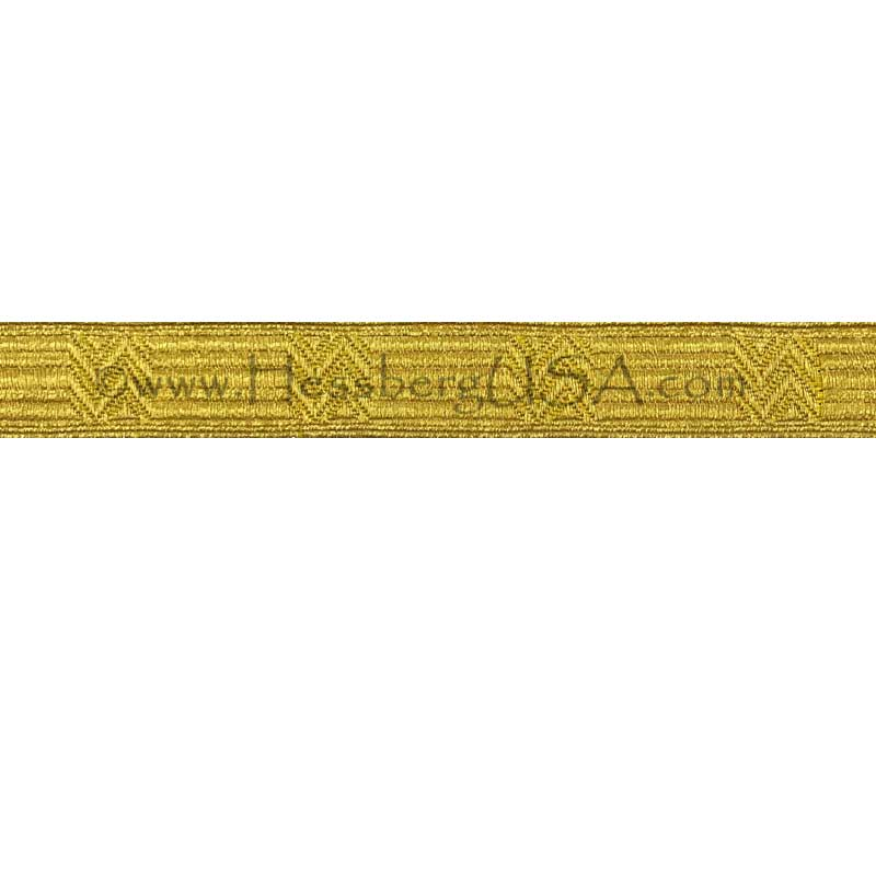 "Closeout 3/4"" Gold Chevron Braid-Hessberg USA"