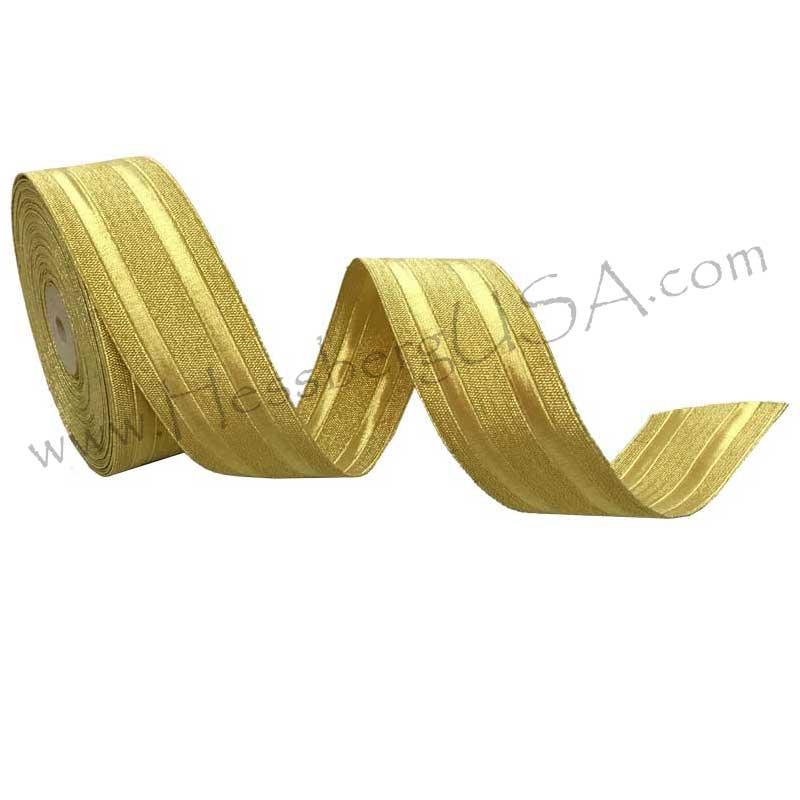 "Closeout Metallic Braid 1 1/2"" Regular Gold-Hessberg USA"