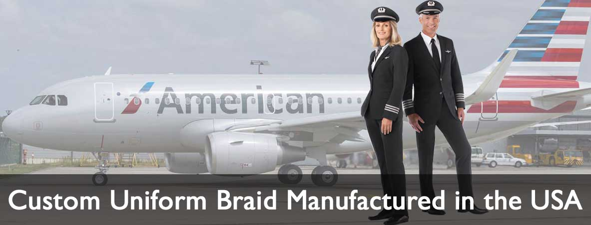 Custom uniform braid manufactured in the USA.