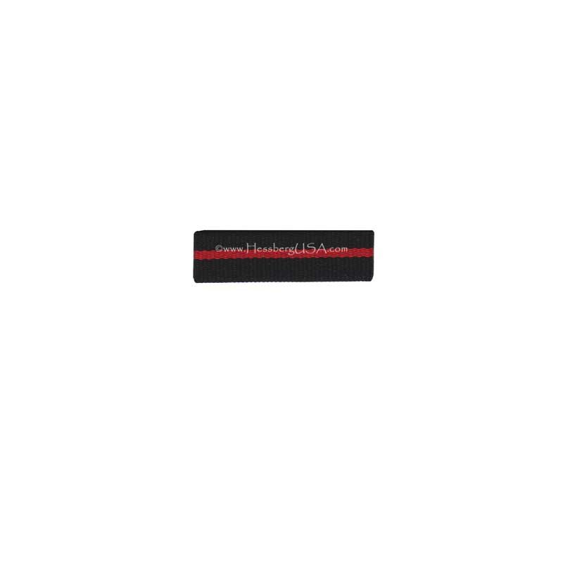 Thin Red Line Ribbon Front w/ Clutch 5 Pack-Hessberg USA