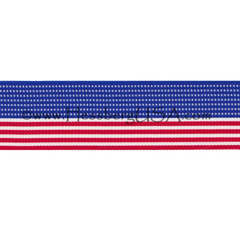 "American Flag Ribbon 1 3/8"" -"