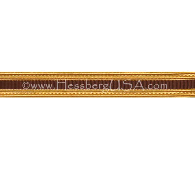 Metallic Sleeve Braid Gold Wire/Brown-