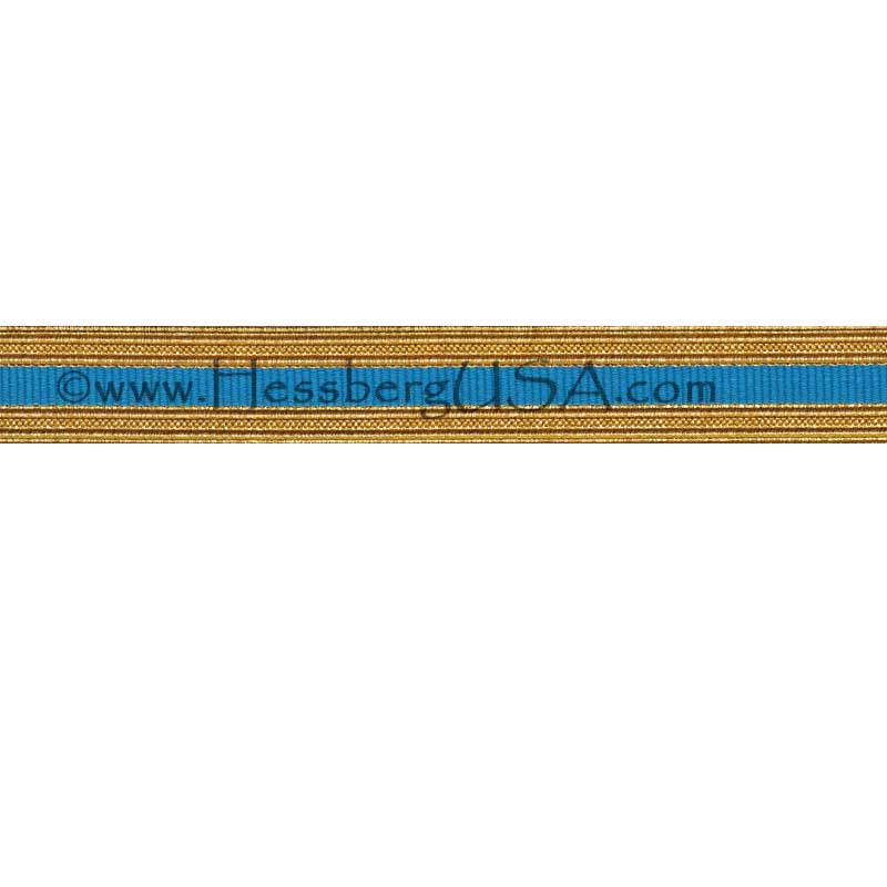 Metallic Sleeve Braid Regular Gold/AIS Blue-Hessberg USA