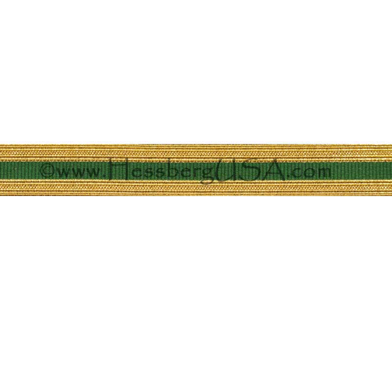Metallic Sleeve Braid Regular Gold/Green-Hessberg USA