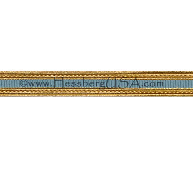Metallic Sleeve Braid Regular Gold/Light Blue-Hessberg USA
