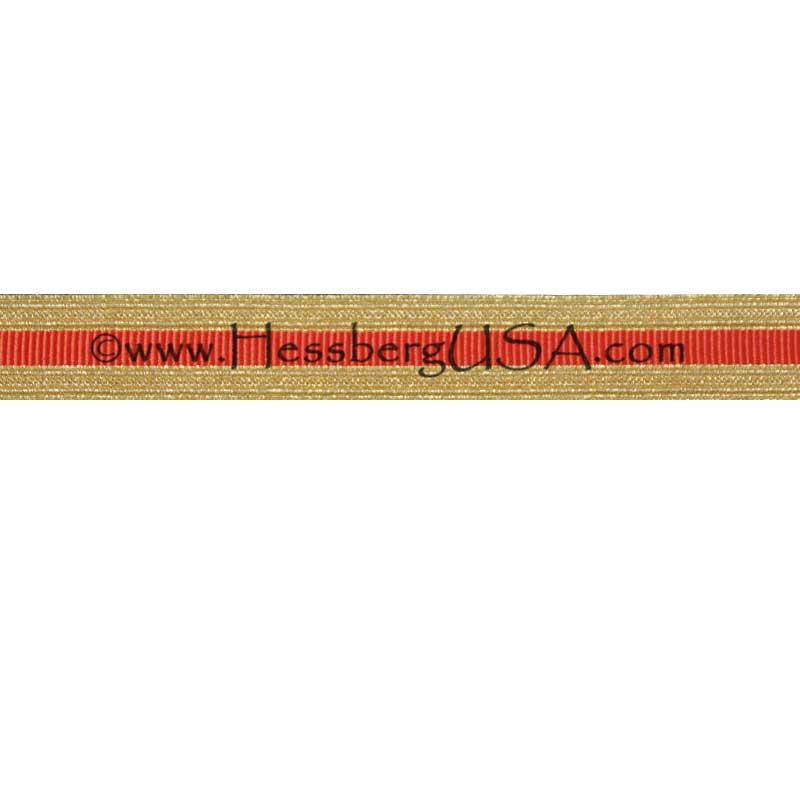 Metallic Sleeve Braid Regular Gold/Orange-