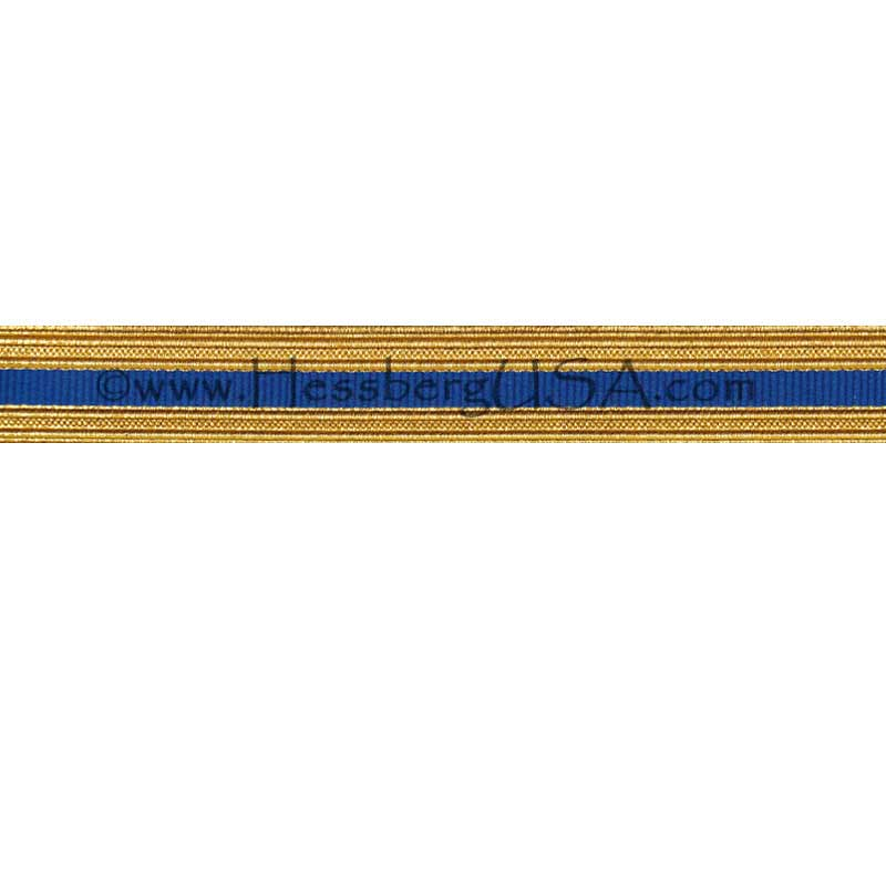 Metallic Sleeve Braid Regular Gold/Royal Blue-Hessberg USA
