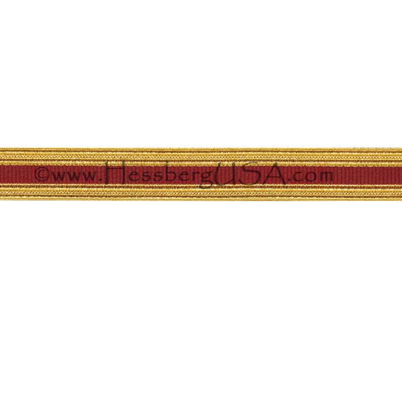 Metallic Sleeve Braid Regular Gold/Transportation-