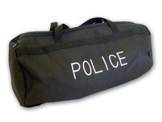 Black Nylon Duffle/Gear Bag w/Security Logo-Perfect Fit